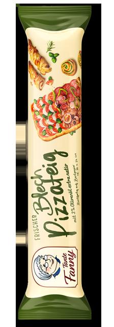 Frischer Blech-Pizzateig