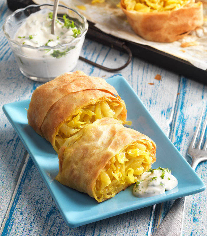 Ananas-Kraut-Curry Strudel Tante Fanny