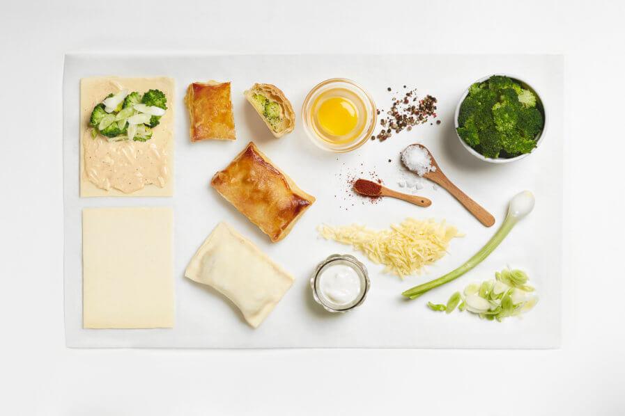 Brokkoli-Käse-Taschen aus Blätterteig