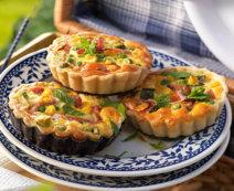 Erbsen-Schinken-Tartelettes