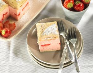 Erdbeer-Cremeschnitten