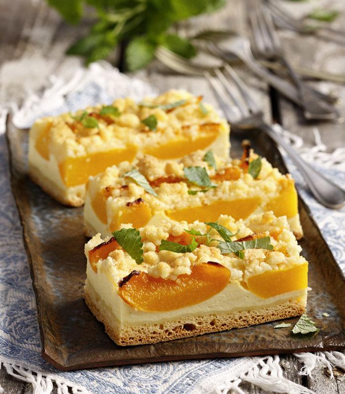 Pfirsich-Streuselkuchen Tante Fanny
