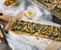 Pizzaschnitten mit Spinat