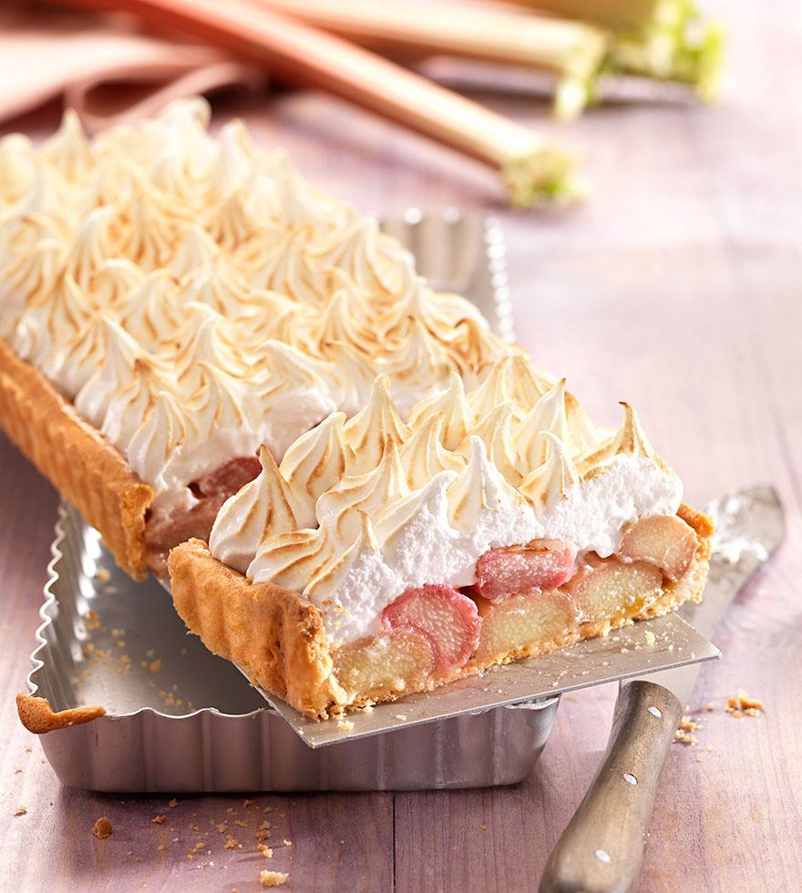 Rezept Rhabarberkuchen mit Baiserhaube Tante Fanny