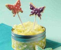 Schmetterlings-Keks-Pops
