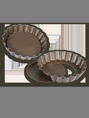 Tarteletteformen mit herausnehmbaren Böden