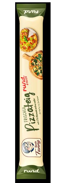 Frischer Pizzateig rund