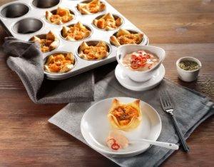 Blätterteig-Häppchen mit Süßkartoffeln
