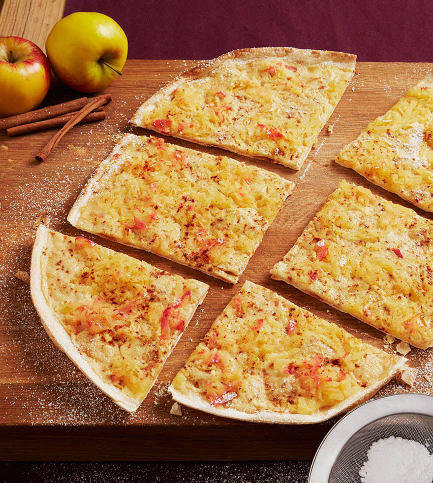 Apfel Zimt Flammkuchen Gastro Tante Fanny