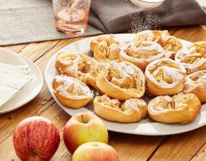 Apfelschnecken aus Hefeteig