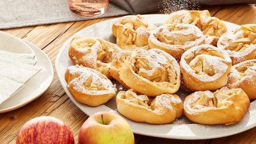 Apfelschnecken vom Blech