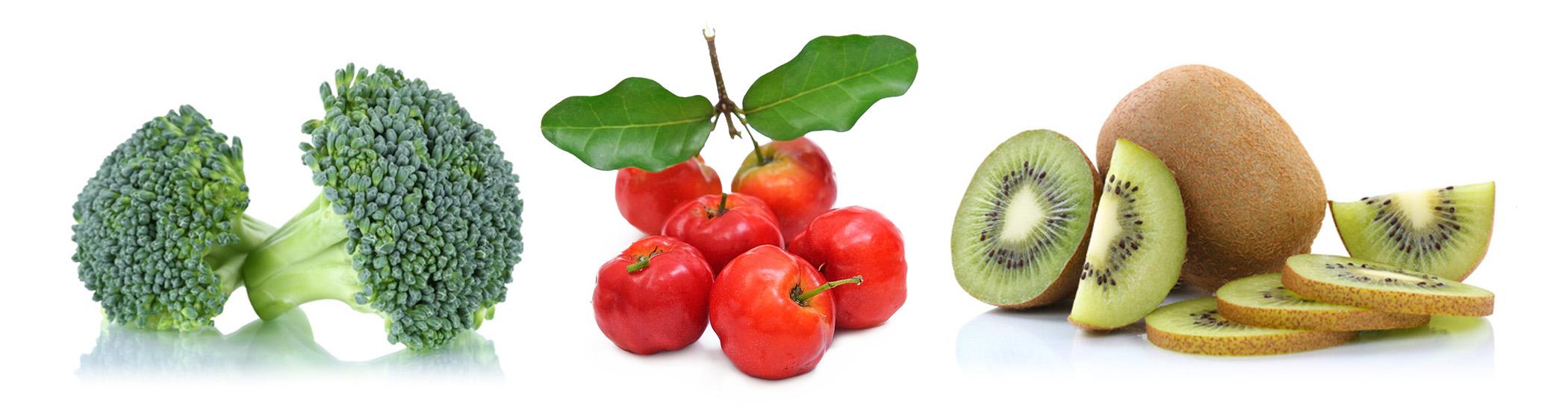 Top-10 Vitamin C Lieferanten Brokkoli_Acerola_Kiwi