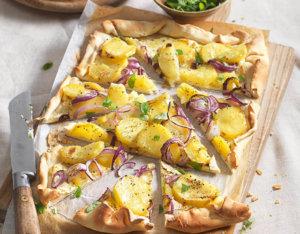 Flammkuchen mit Kartoffeln