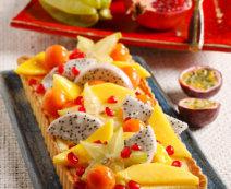 Tarte mit exotischen Früchten