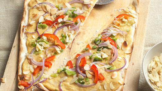 Veganer Flammkuchen Hummus