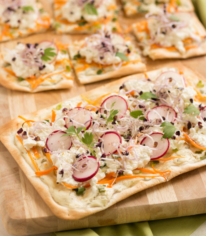 Flammkuchen mit Cottage Cheese Tante Fanny