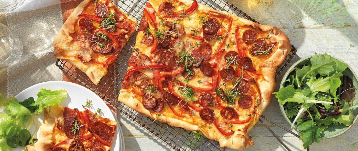 Flammkuchen mit Chorizo
