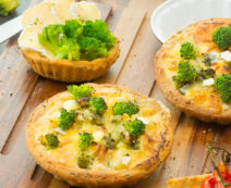 Tartellettes mit Brokkoli