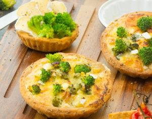 Tartelettes mit Brokkoli