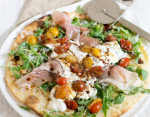 Pizza mit Burrata