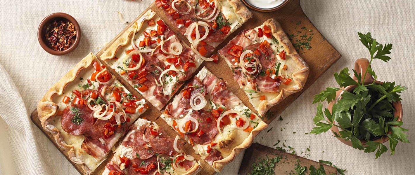 Ungarische Salami-Paprika Pizza Rezept Tante Fanny