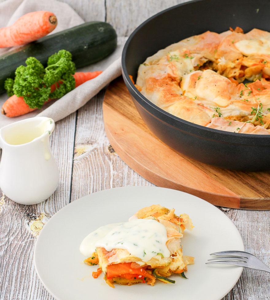 Rezept Gemüsestrudel mit Käsesauce Tante Fanny
