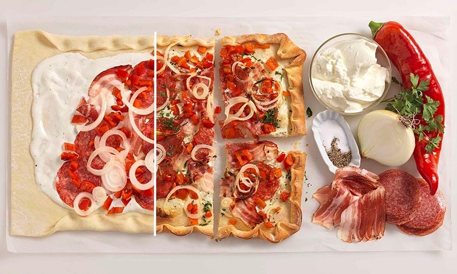 Rezept Ungarische Salami Paprika Pizza Tante Fanny