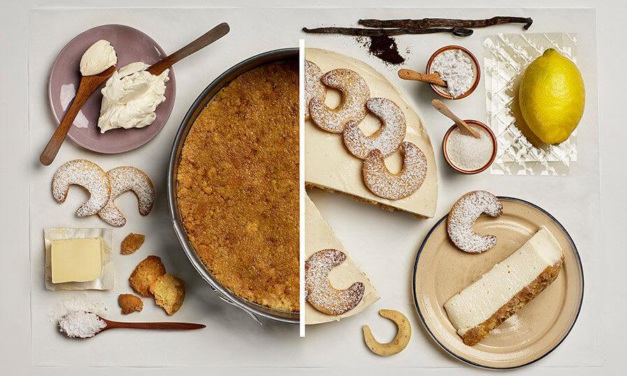 Rezept Vanillekipferl-Cheesecake Tante Fanny