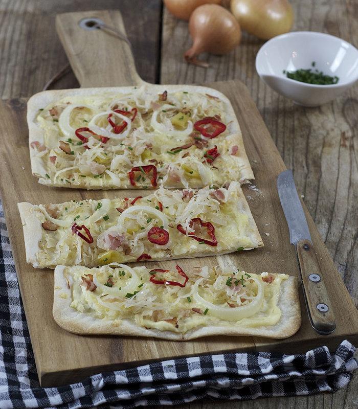 Rezept Flammkuchen mit Sauerkraut Tante Fanny