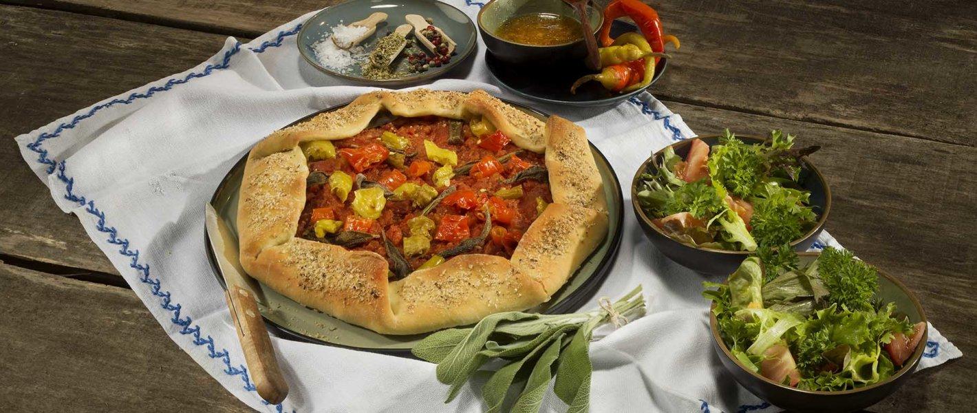 Mediterrane Galette mit Tomaten