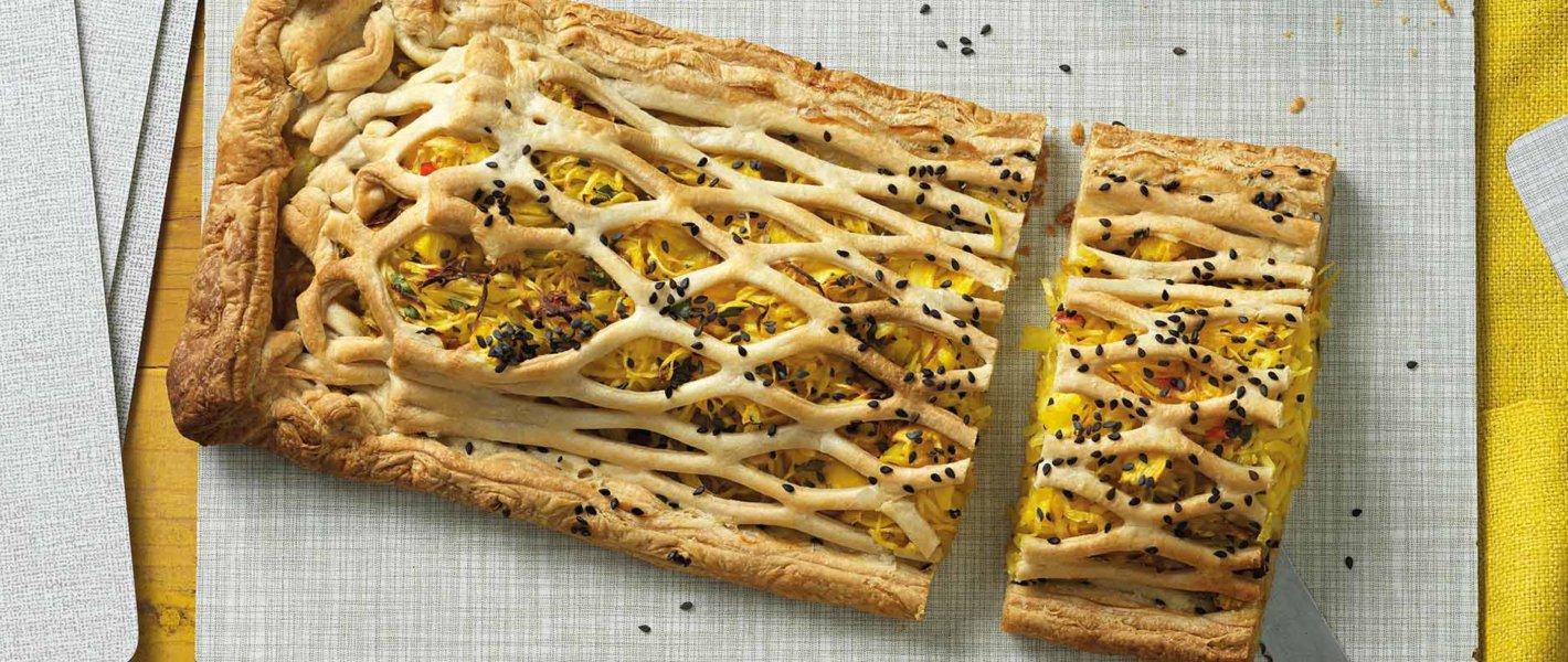 Rezept Gitter-Krautstrudel mit Curry und Ananas Tante Fanny