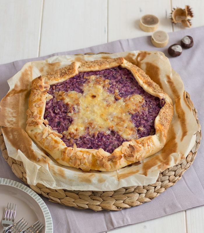 Rezept Rotkrautgalette mit Apfel und Bergkäse Tante Fanny