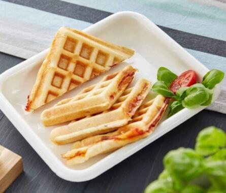 Pizza im Waffeleisen: Pizzawaffeln - Bild