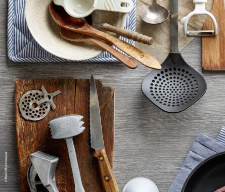 Küchenutensilien Querkochen