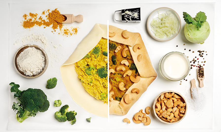 Rezept Curry-Kohlrabi Galette mit Brokkoli Tante Fanny
