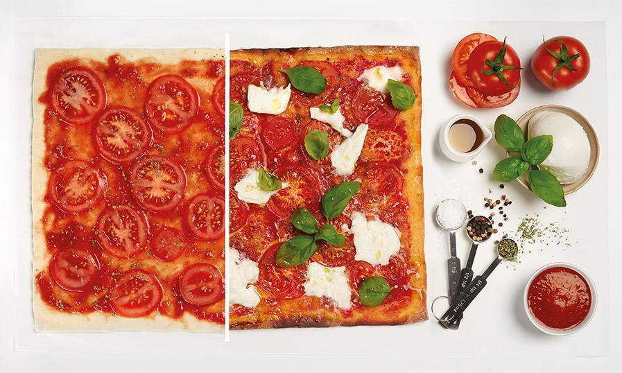 Rezept Pizza mit Büffelmozzarella und Basilikum Tante Fanny