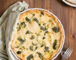 Sauerrahmquiche mit Brokkoli und Karfiol