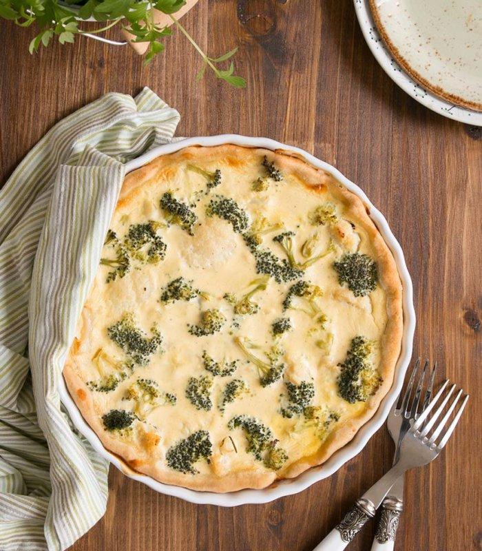Rezept Sauerrahmquiche mit Brokkoli und Karfiol Tante Fanny