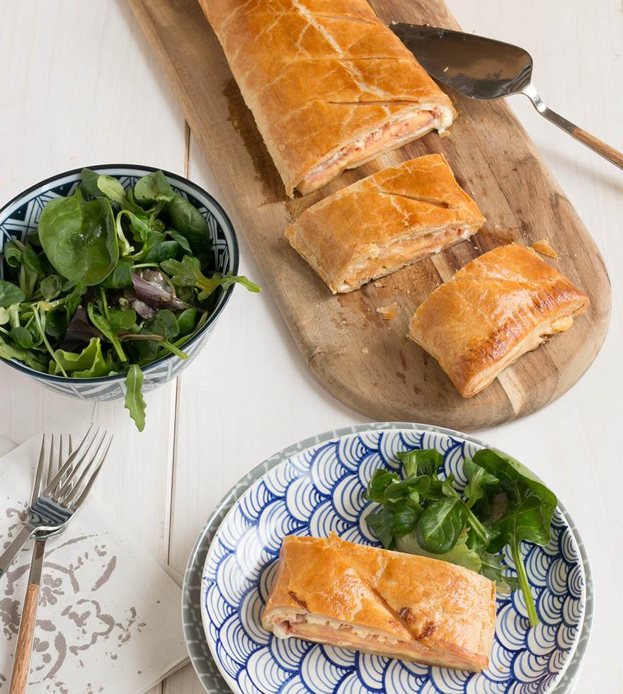 Rezept Blätterteigstrudel mit Schinken und Käse Tante Fanny