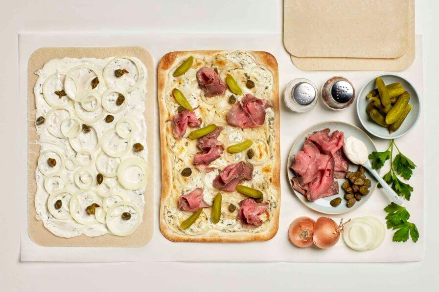 Rezept Flammkuchen mit Roastbeef und Kapern Gastro Tante Fanny