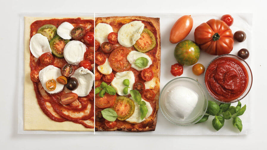 Rezept Pizza mit bunten Tomaten Tante Fanny