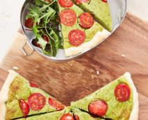Pikante Avocado-Quiche