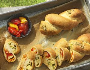 Gemüsestriezel mit Grillpaprika und Zucchini