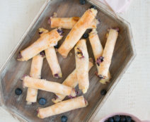 Heidelbeer-Cheesecakestangerl