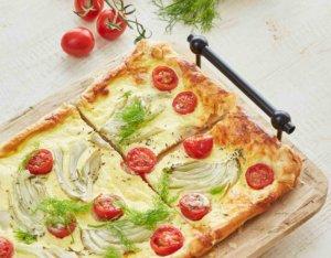 Blätterteig Fenchel-Tomaten Quiche