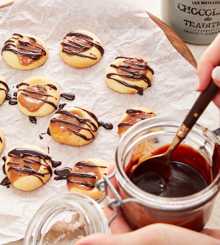 Toffee Kekse Butter-Mürbteig