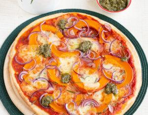 Vegetarische Kürbispizza