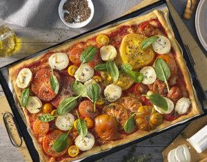 Pizza mit Ziegenkäse