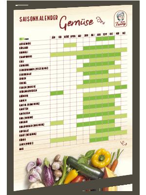 Saisonkalender Gemüse zum Ausdrucken