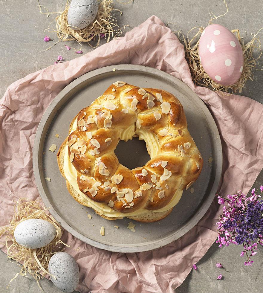 Einfacher Osterkranz mit Eierlikörfüllung | Tante Fanny